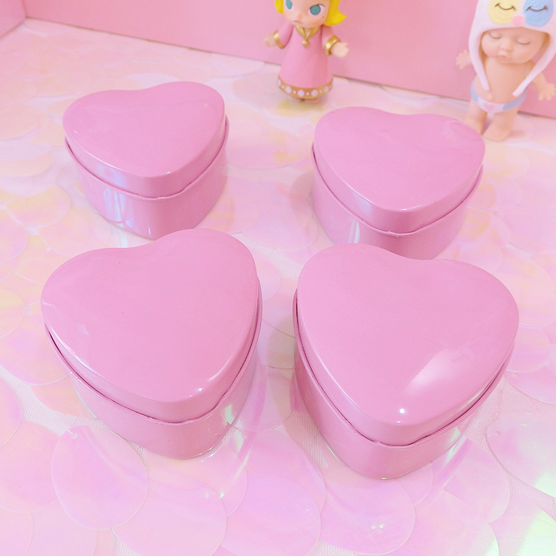 1pc Cute Heart Shape Box For Dolls Collection Girls Earings Storage