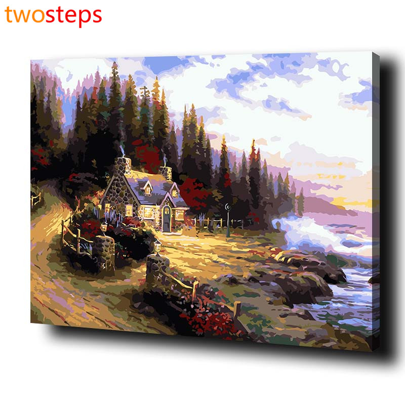 twosteps diy digital canvas oil painting by numbers coloring by numbers modern acrylic paint by. Black Bedroom Furniture Sets. Home Design Ideas