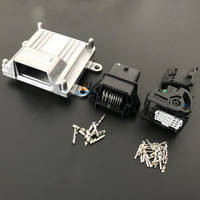 1set 32pin ECU Aluminum Enclosure Box with 32 pin Case Motor Car LPG CNG Conversion Male Female Auto Connector