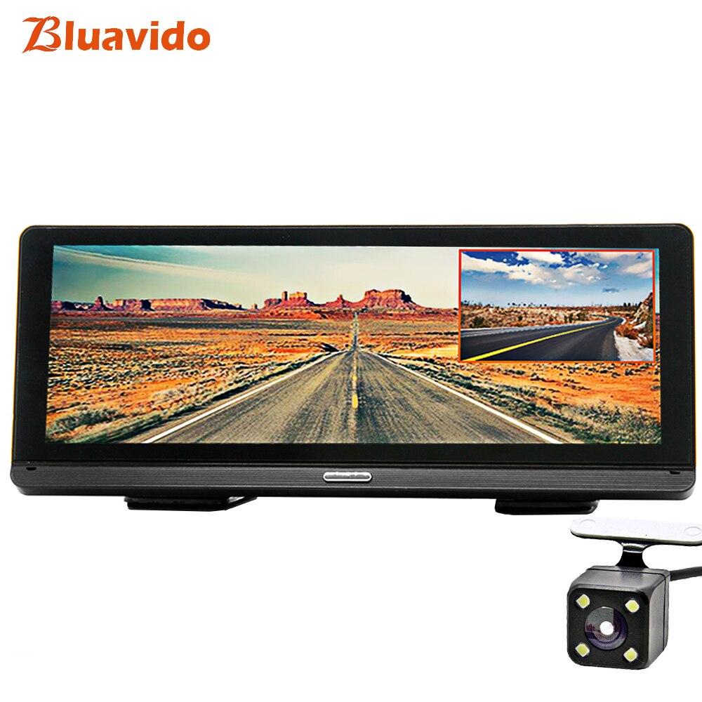 Bluavido 8 IPS Voiture DVR GPS 4g Android Navigation ADAS Full HD 1080 p Dash Caméra Double Lentille voiture Enregistreur vidéo En Direct À Distance moniteur