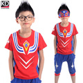 New Children Summer Clothing Set Boys Ultraman Sports Outfit  Kids Sports Suit Cotton Short sleeve Pullover T shirt middle pants