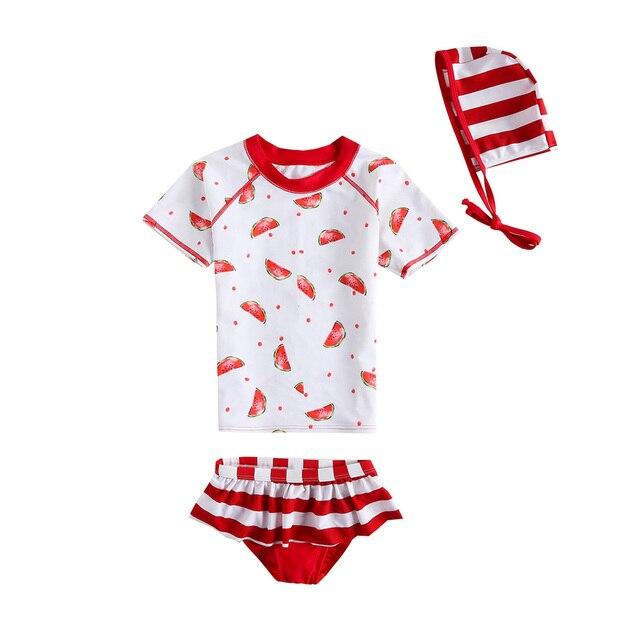 5cc4442cbc VIVOBINIYA Free shipping baby girl stripe swimsuit UPF50+ Children swimwear  kids Beach clothing baby girl Split type swimwear