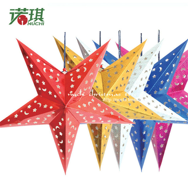 Online Shop Christmas star decoration Paper star lantern kerstbal - christmas star decorations