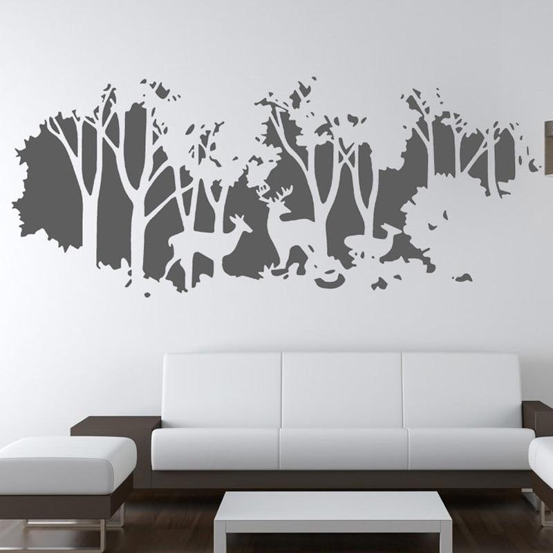 Nová příchozí kutilská jelenská samolepka na zeď pro obývací pokoje Ložnice odnímatelná vinylová tapeta obtisky velké samolepky pro domácí dekor 3 barvy