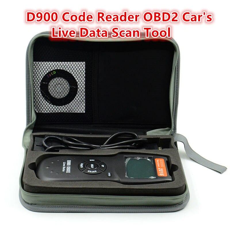Prix pour Professionnel D900 OBD2 Scanner Universel Moteur De Voiture de Diagnostic De Défauts Scanner Lecteur de Code OBDII EOBD CANBUS Livraison gratuite