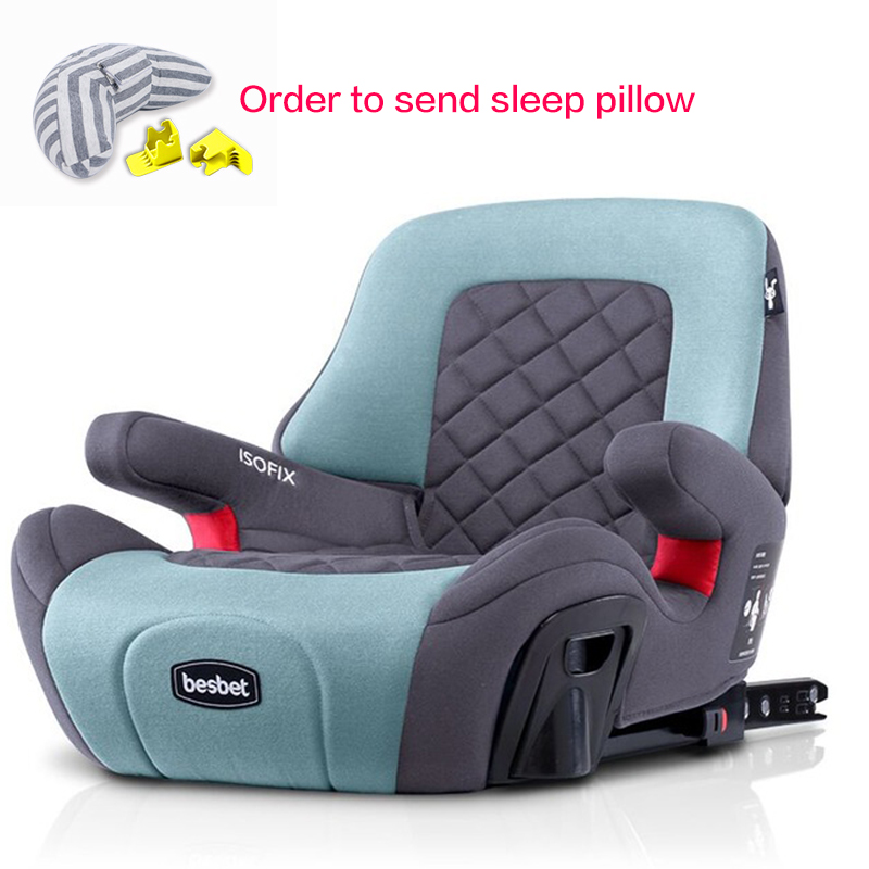 Child Booster Pad 3-12 Years Portable Kids Car Booster Seat Portable Car Safety Chair Baby Dining Seat ISOFIX Interface