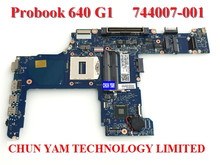 Original 744007-001 FOR HP 640 G1 650 G1 Laptop Motherboard 6050A2566302-MB-A03 Mainboard 90Days Warranty 100% tested
