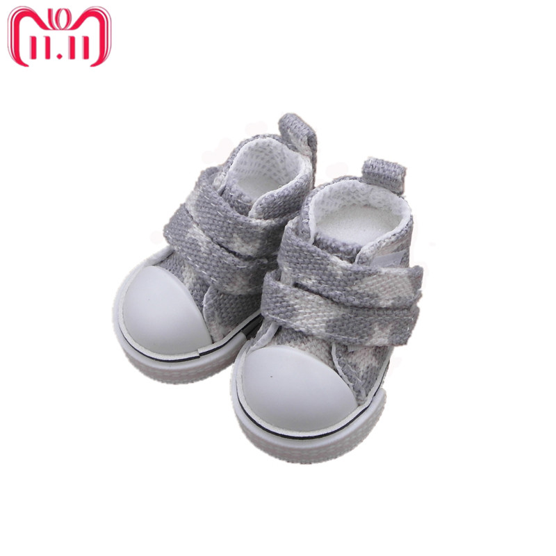 Tilda 5cm Canva Star Shoes For Dolls BJD,Fashion Canvas Casual Sneakers 1/6 Boots for Ball Joint Doll Accessories for Dolls tilda 5pairs lot 5cm canvas sneak for bjd doll mini textile doll boots 1 6 polka dots designer sneakers shoes for handmade dolls