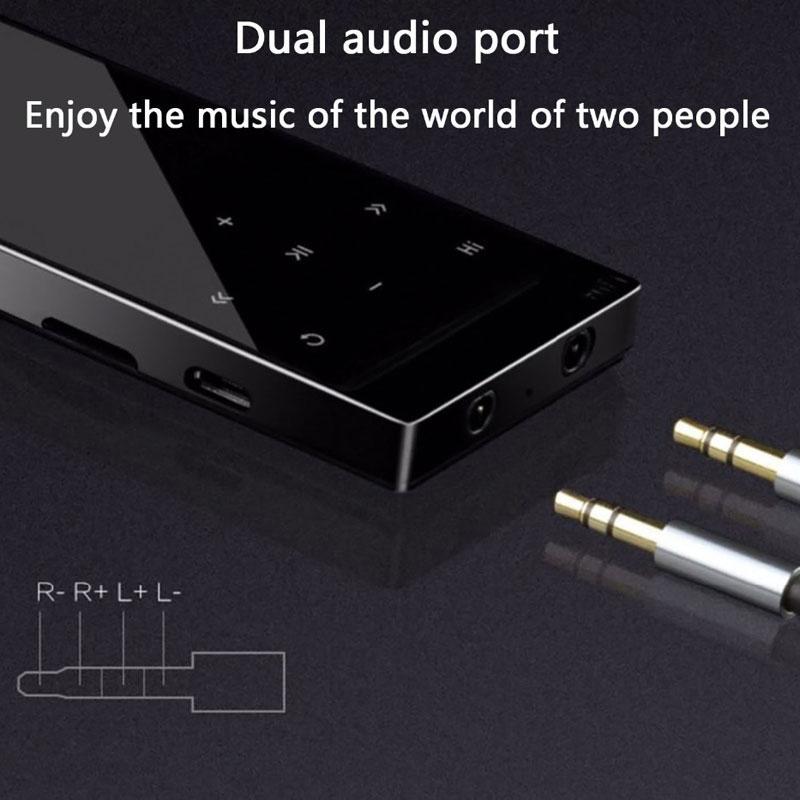 Tela sensível ao toque MP3 Player Bluetooth4.0