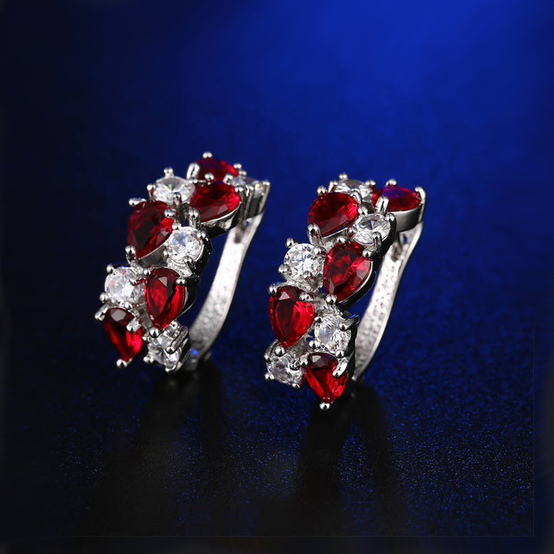 Europe & American jewelry Mona Lisa earrings drop crystal earrings gift zircon jewelry women earrings wholesale