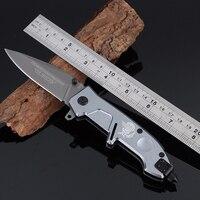 Free Shipping JINGZHUI Multifunctional Folding Knife Titanium Pocket Knife Survival Hunting Knife Handle Steel Alloy