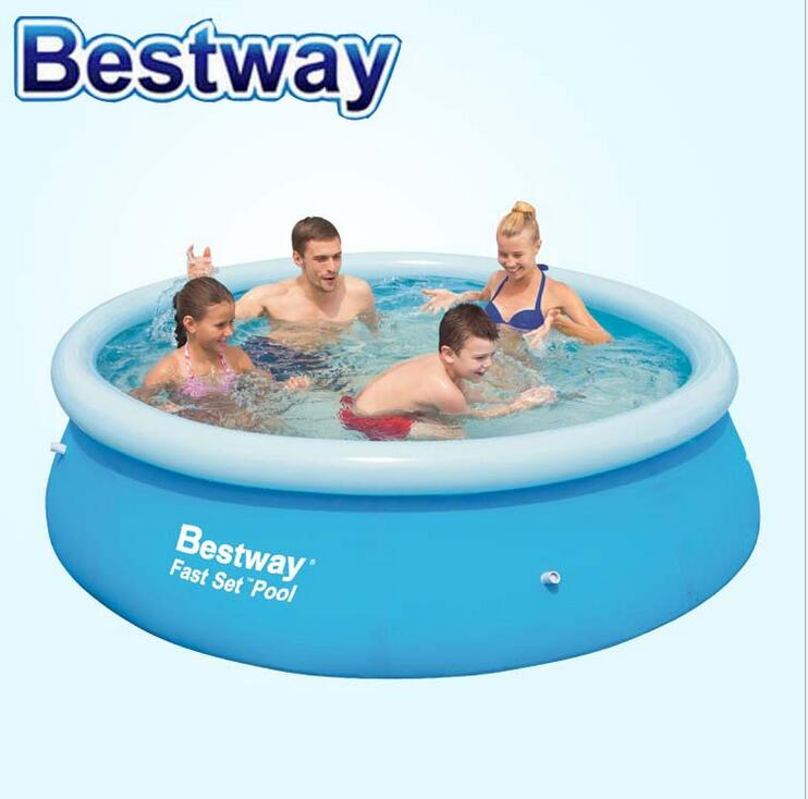 Bestway57265 large inflatable swimming pool Family Child Adult pool heightening thick 244 * 66cm dual slide portable baby swimming pool pvc inflatable pool babies child eco friendly piscina transparent infant swimming pools