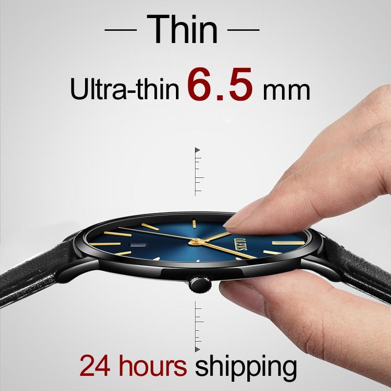 OLEVS のカップルが恋人の高級トップブランド防水カジュアルスタイル新ファッション超薄型クォーツレザー腕時計高品質  グループ上の 腕時計 からの 恋人の腕時計 の中 2