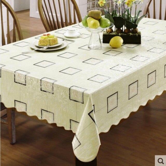 flanelle soutenu vinyle pvc nappe en plastique tanche table tissu propagation couverture. Black Bedroom Furniture Sets. Home Design Ideas