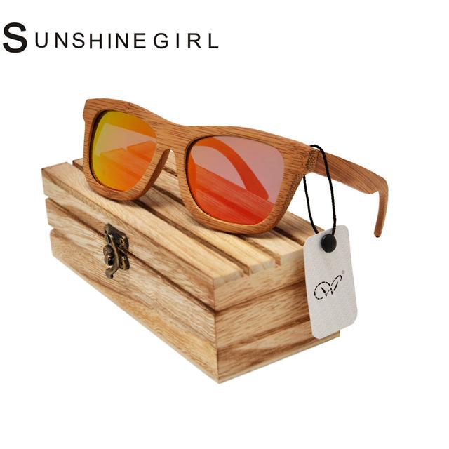 Personalizado de luxo de Bambu De Madeira De Bambu Óculos De Sol Vogue Óculos Polarizados Óculos Polarizados óculos de sol de madeira De Bambu Personalizado caso