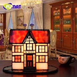 FUMAT krajem ameryki styl mały dom sztuki bar ślub prezent szkło kreatywny salon sypialnia lampki nocne lampa stołowa