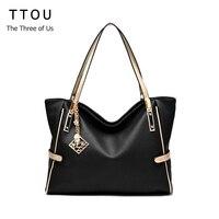 TTOU Women Tassel Casual Tote Elegant Ladies Handbag Pu Leather Shoulder Bag Large Capacity Hand Bag