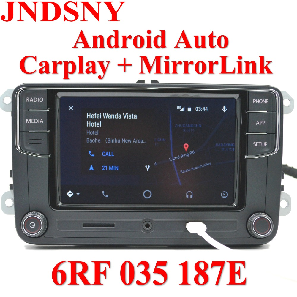 JNDSNY Android Auto CarPlay APP R340G RCD330 RCD330G Plus De Voiture Radio Pour Golf 5 6 Jetta MK6 CC Tiguan Passat Polo 6RF 035 187E