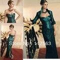 Disponível personalizado verde escuro querida lace jacket longo mãe formal dos vestidos de noiva MQ011