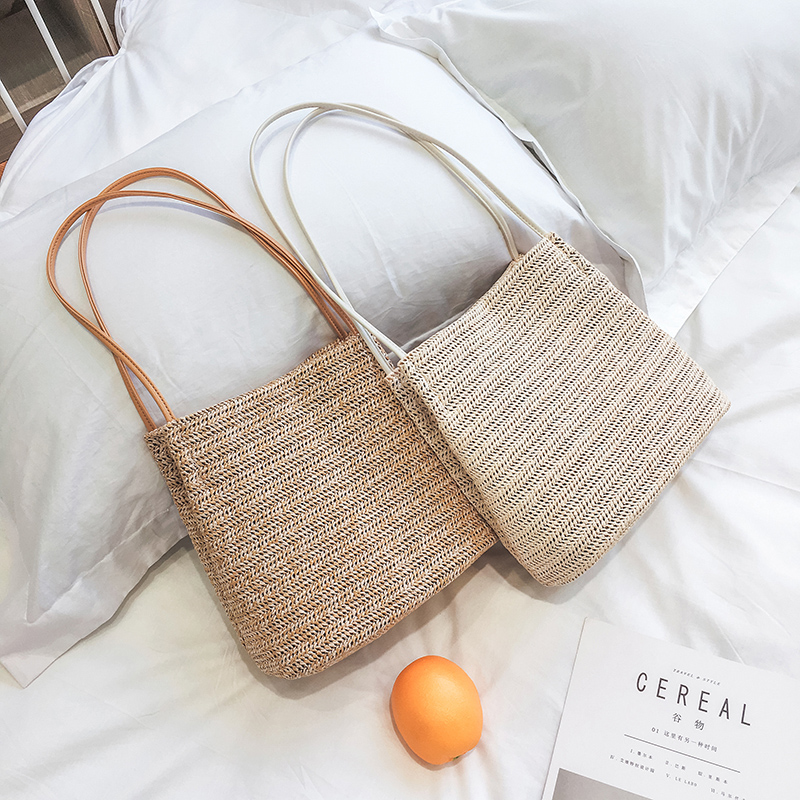 New 2018 Beach Bag For Summer Big Straw Bags Handmade Woven Tote Women Travel Handbags Shopping Hand Bags hand straw tote handbag summer sunflower woven beach bag fashion large capacity women shopping bag patchwork flower straw bags