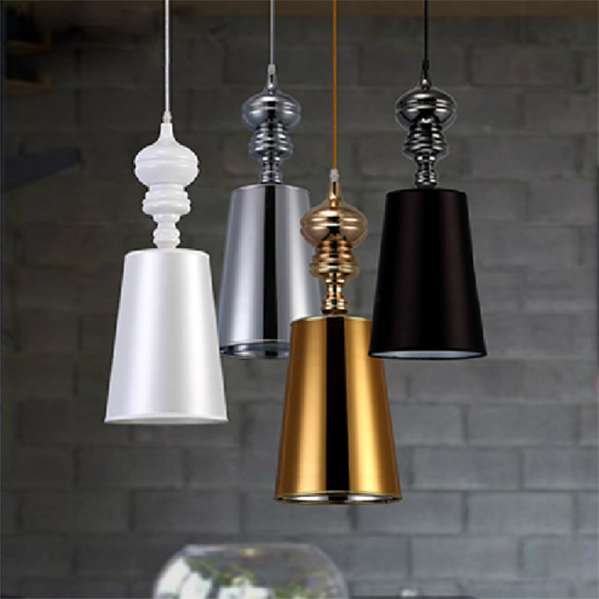 цены Modern Brief led Pendant Lamps,black\white\silver\gold lampshade hanging Lights for Dining\living Room home lighting fixture