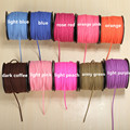 80m/roll Korean 3mm Velvet Flat Faux Leather Suede Cordon Cord Necklace Bracelet Thread Woven Cords Diy Making Jewelry Rope