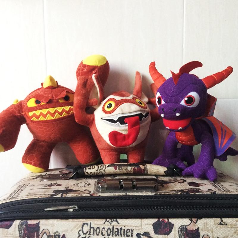 все цены на 1Pcs dinosaur Skylanders 15cm Spyro plush toy