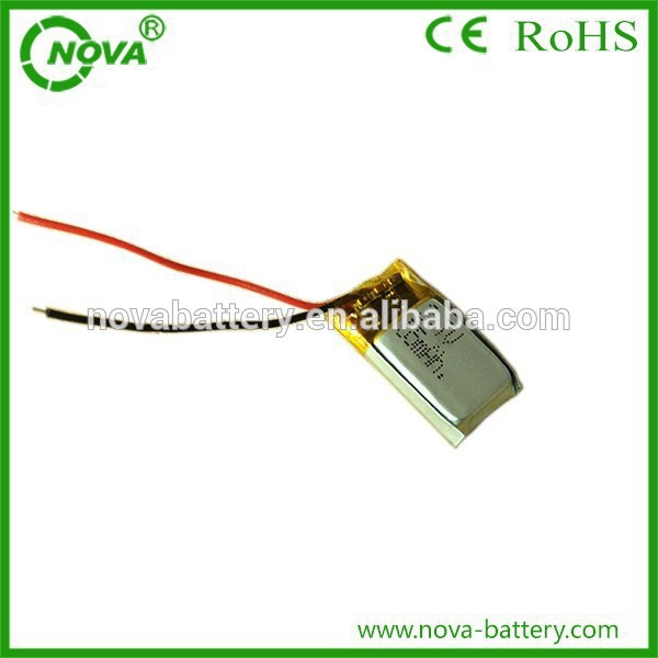 rechargeable lithium ion <font><b>3.7v</b></font> 401020 55mah <font><b>lipo</b></font> <font><b>battery</b></font> image