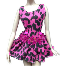 Hot Sale 1 pc Fashion Purple Leopard Print Pleated Skirt Short Skirt Evening Dress For Barbies Doll Girl Birthday Christmas Gift(China)