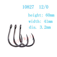 50pcs 10827 Size 12 0 Stainless Steel Ocean Fishing Hooks No Rust Fishing Tackle