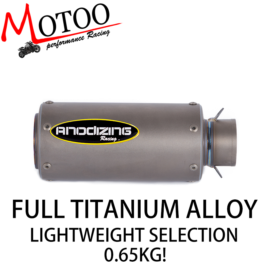 51mm Motorcycle Exhaust Muffler Real Titanium Alloy Scooter Exhaust For YAMAHA R3 R15
