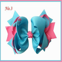 Free Shipping 12Pc Grosgrain Ribbon 8 Inch Ring With Clip Hair Accessories Retail Wholesale Fashion Boutique Hair Bow