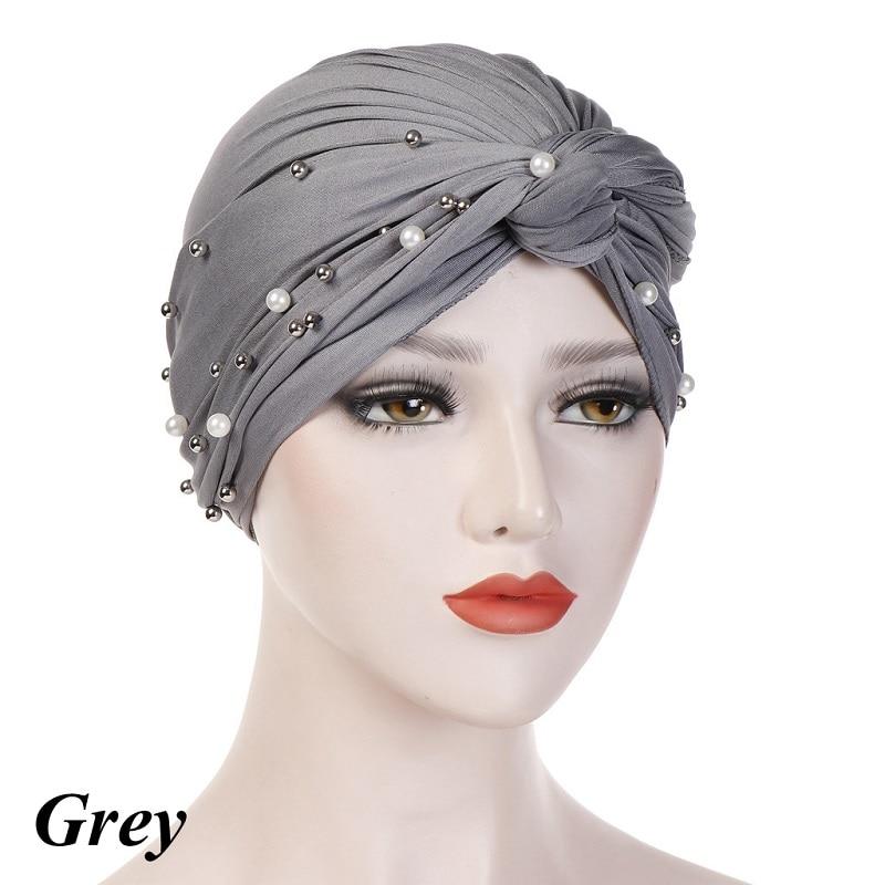 Headband-Indian-Muslim-Hijab-Islamic-Jersey-Beads-Cap-Stretchy-Pleated-Women-Turban-Hat-Knot-Head-Wrap(13)
