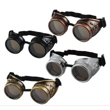 Classic Steampunk Goggles with Elastic Band Welding Punk Glasses Eyewear Retro Victorian Cosplay Costume Accessories new double steam punk mask steampunk mask gas masks daft punk mighty metal rivet respirator goggles vintage glasses land retro