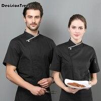 2019 summer japanese restaurant uniforms sushi chef uniform food service receptionist waitress uniform clothing
