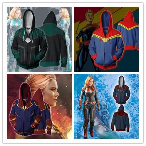 Avengers 3 Carol Danvers Hoodie Sweatshirt FOR WOMEN 3D Print Hoodies Streetwear Casual Cospaly Hoodie