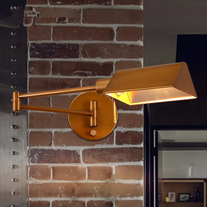 Northern Europe Industrial Retro Iron Wall Lamp Aisle Corridor Creative Living Room Study Personality Wall Light Free Shipping 2 color northern europe metal wall lamp modern simple minimalism iron wall lighting fixtures for living room aisle