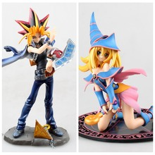 18cm-22CM Japanese classic Anime Yu-Gi-Oh! Duel Monster Yugi Muto/Dark Magician Girl PVC Action Figure Collectible Model Toy(China)