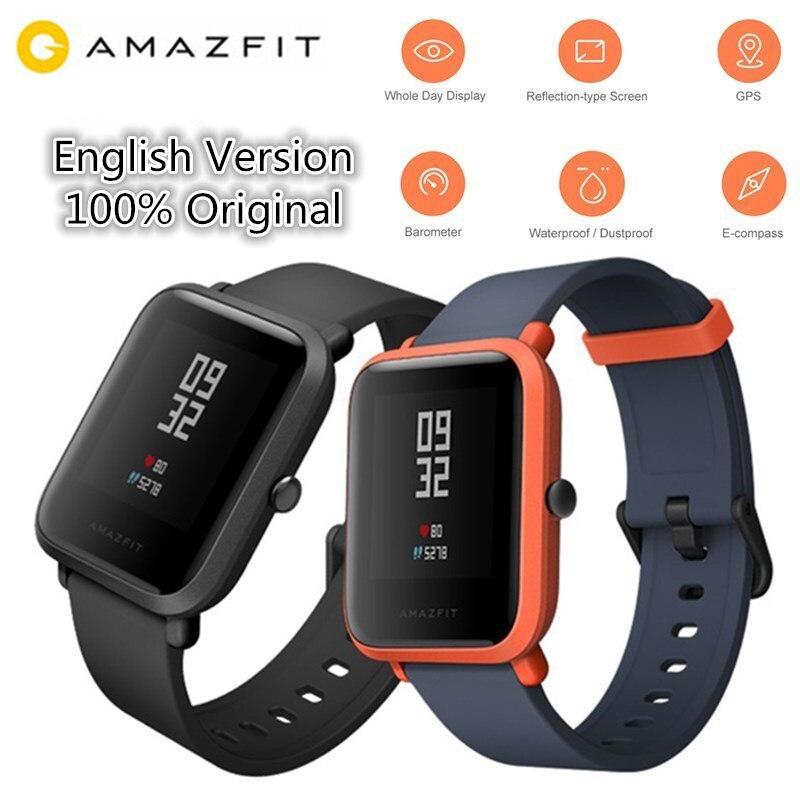 Huami AMAZÔNIA Bip/Bip Lite Smartwatch Bluetooth GPS Relógio Inteligente Heart Rate Monitor Sports Tracker IP68 Versão Internacional