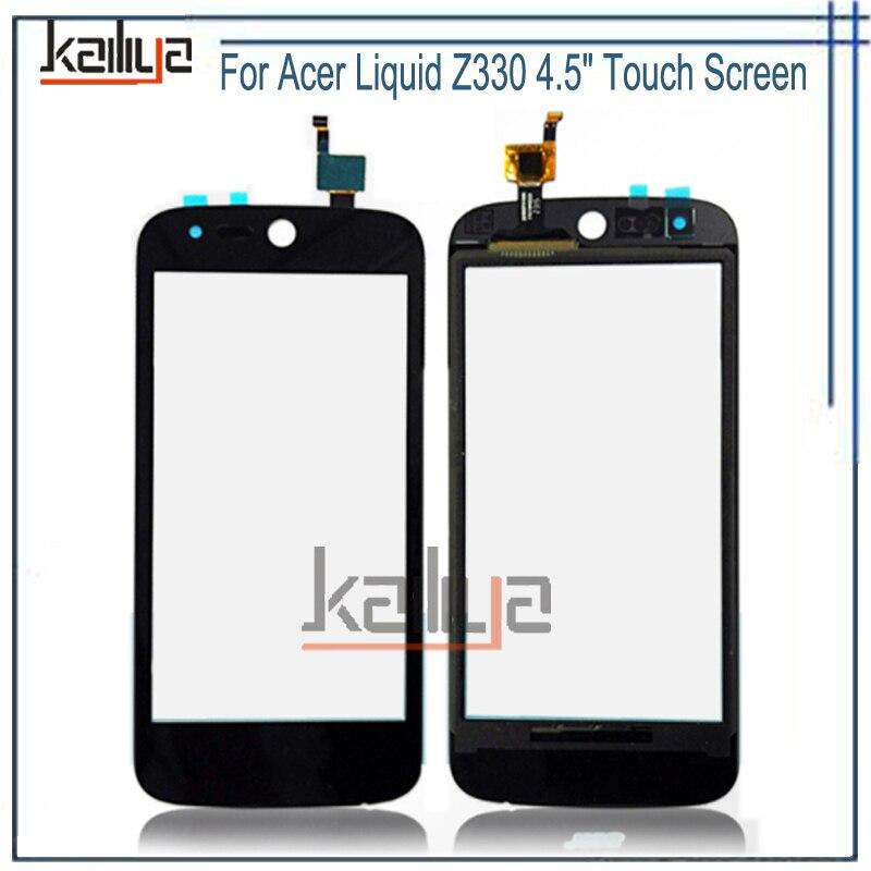 Pantalla táctil para Acer Liquid Z330 M330 M320 negro Nuevo 4.5 pulgadas digitalizador Sensor de cristal lente compartimiento para Acer Liquid z330 M330