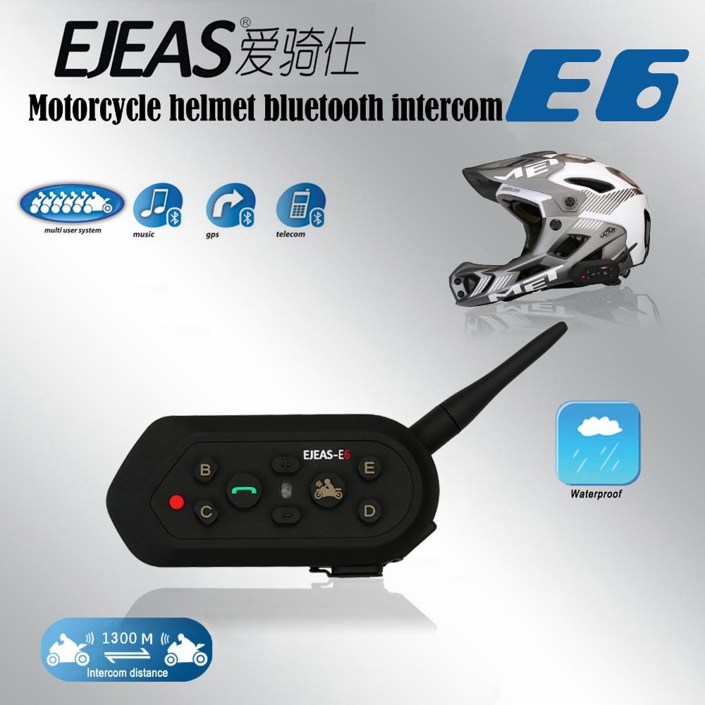 1000M Max 6 Riders VOX Bluetooth Motorcycle Intercom Headset For Half Full Face KTM Helmets Update Program Provided