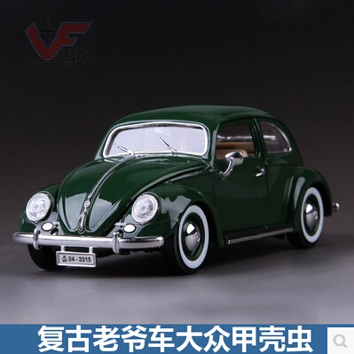 Volkswagen kafer-Beetle Bburago 1:18 Simulation retro classic cars model Beatles British Green Memorial car Collection stels beetle 1