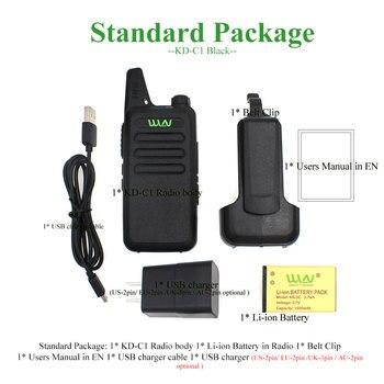 2pcs WLN KD-C1 Walkie Talkie UHF 400-470 MHz 16 Channel  MINI-handheld Transceiver Ham Radio Station WLN Radio Communciator 6