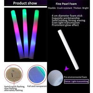Image 5 - Светящиеся палочки 100 шт., светодиодный светильник, пенопластовая палка для вечеринок, свадьбы, концертное настроение, 3 лампы, мигание с 3 батареями, без логотипа