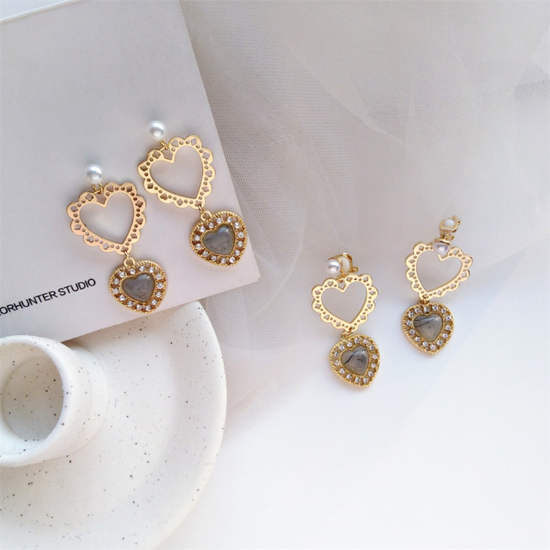 Home Personality Joker Metal Texture Is Irregular Shape Earrings Tide Female Street Snap Daily With No Hole In The Ear Clip Skillful Manufacture