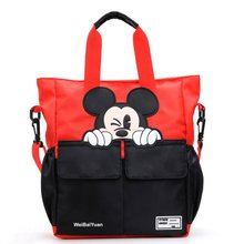 Mickey Handbag Nylon Women Bag Cute Large Capacity Female Shoudler Bag Kids Girl Boy Crossbody Bag Tote Bolsa Feminina