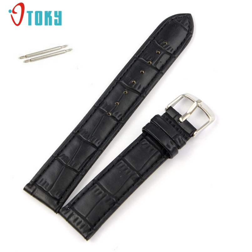 New Arrive Leather Watch Band Strap for Watch 18mm 20mm 22mm With Silver Stainless Steel Buckles Dropship #N02