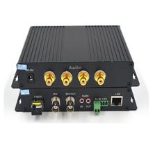 Alta calidad HD SDI Video/Audio/datos/Ethernet 1310/1550 fibra óptica Media convertidores transmisor y receptor para HD SDI CCTV