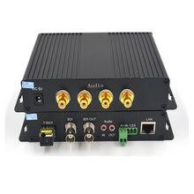Haute qualité HD SDI vidéo/Audio/données/Ethernet 1310/1550 Fiber optique convertisseur de médias émetteur et récepteur pour HD SDI CCTV