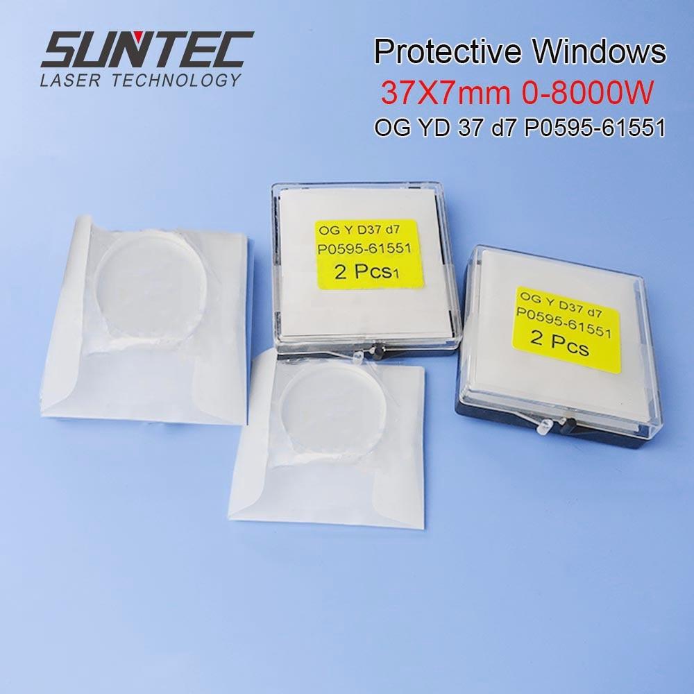 SuntecLaser Protective Windows Protection Mirrors Fiber Laser Cover Slides 37*7mm OG YD37 D7 P0595-61551 P0595-58601 0-6000W IPG